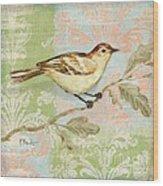 Brocade Songbird I Wood Print by Paul Brent