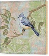 Brocade Songbird II Wood Print