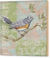 Brocade Songbird Iv Wood Print
