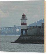 Brockton Point Lighthouse Wood Print
