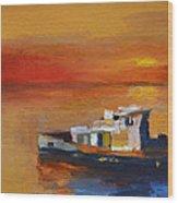 Brod Na Klisanskom Kanalu Wood Print