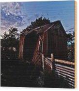 Brokeback Barn  Wood Print