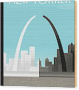 Broken Arch. A Scene From St. Louis Wood Print