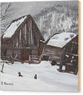 Broken Barn Wood Print