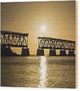 Broken Bridge Wood Print
