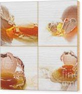 Broken Chicken Eggs Wood Print
