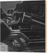 Broken Chords Wood Print