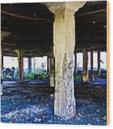 Broken Columns Wood Print