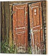 Broken Door Wood Print