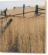 Broken Down Fence Wood Print