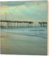Broken Dreams - Frisco Pier Outer Banks II Wood Print