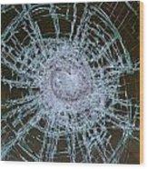 Broken Glass Wood Print