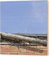 Broken Gutter Wood Print by Tom Gowanlock