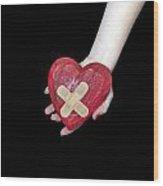 Broken Heart Wood Print by Joana Kruse