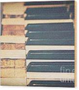 Broken Melody Wood Print