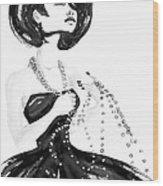 Broken Pearls Wood Print