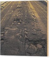 Broken Road Wood Print