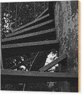 Broken Stairs Wood Print
