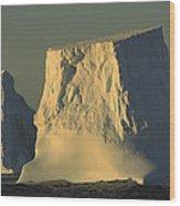 Broken Tabular Icebergs Antarctica Wood Print