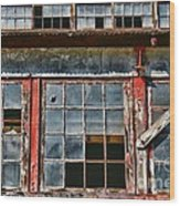 Broken Windows Wood Print by Paul Ward