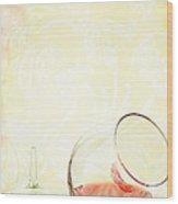 Broken Wine Glass Wood Print
