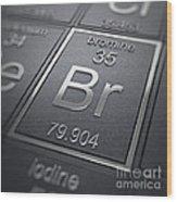 Bromine Chemical Element Wood Print