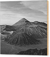 Bromo Valley Java Indonesia Wood Print