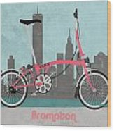 Brompton City Bike Wood Print by Andy Scullion