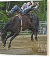 Bronco Cowboy Wood Print