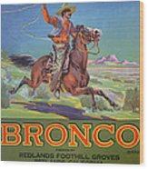 Bronco Oranges Wood Print by American School