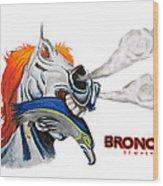 Broncos In Super Bowl Xlviii Wood Print