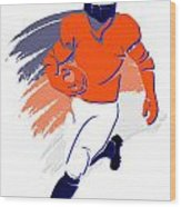Broncos Shadow Player2 Wood Print