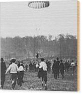 Bronx Parachute Leap Wood Print