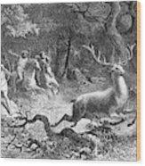 Bronze Age, Hunting Scene Wood Print
