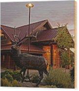 Bronze Elk At Taprock Wood Print