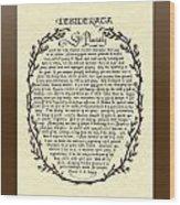Bronze Frame Antique Desiderata Poem Wood Print