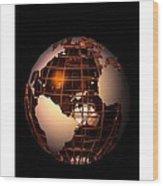Bronze Globe... Wood Print