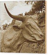 Bronze Longhorn Wood Print