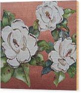 Bronze Magnolia Wood Print