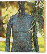 Bronze Man Wood Print