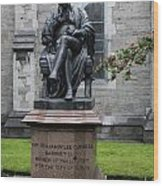 Bronze Statue Of Sir Benjamin Lee Guinness  Wood Print
