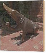 Bronze Statue Wood Print