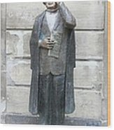 Bronze Statue Stockholm - Evert Taube Wood Print