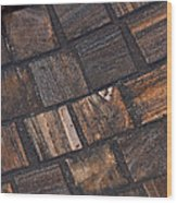 Bronze Tile Squares Wood Print