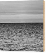 Brooding Sky Over Lake Michigan Wood Print
