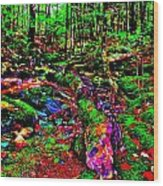 Brook Texture Z 11 Wood Print