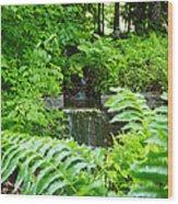 Brook Waterfall Wood Print