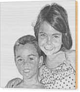 Brooke And Carter Wood Print