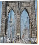 Brooklin Bridge Wood Print