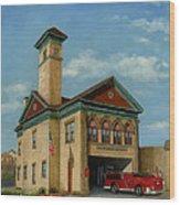Brookline Historical Engine House Wood Print
